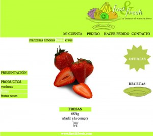 Web Fast&fresh frutas fresa