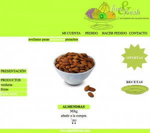 Web Fast&fresh frutos secos almendras