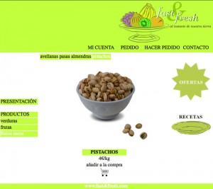 Web Fast&fresh frutos secos pistachos