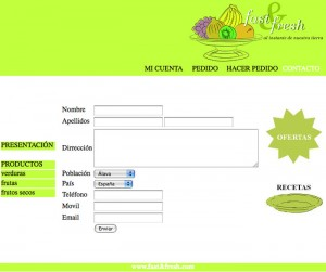 Web Fast&fresh contacto